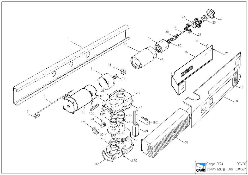 Электро приводы ворот CAME (электро приводы для подъемно-поворотных ворот) .